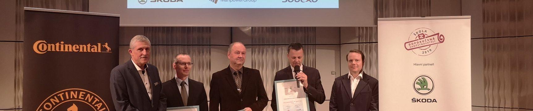 SPŠ Otrokovice získala ocenění Škola doporučená zaměstnavateli