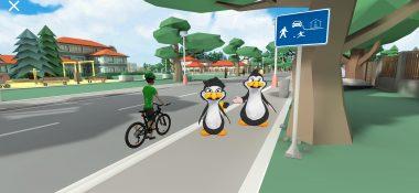 """Nová aplikace """"VR cyklista"""" učí bezpečným zásadám jízdy na kole ve virtuální realitě"""