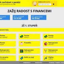 Děti se učí finanční gramotnosti na webu Zlatka.in