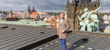 Adam Zimčík z Gymnázia Uherské Hradiště v České národní bance